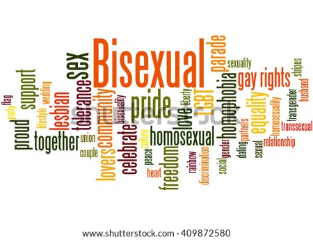 Bisexual, word cloud concept on white background.