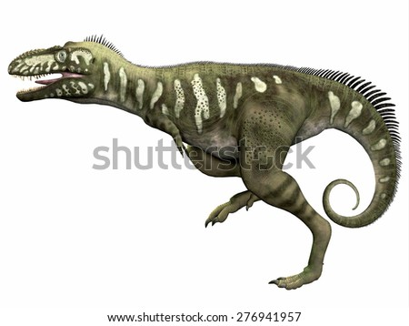Bistahieversor over White - Bistahieversor was a carnivorous dinosaur that lived in the Cretaceous Period of New Mexico.