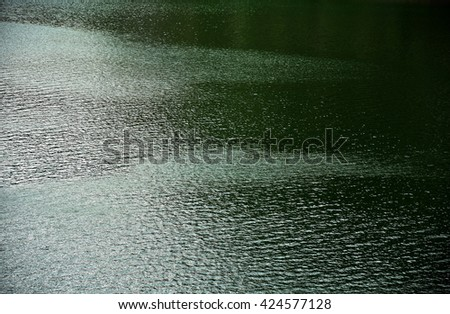 Bistrita,ROMANIA, 2016, View of Colibita Lake  Lake water transparent ,abstract,texture reflexion and waves