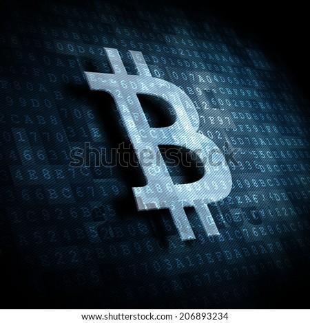 bit coin symbol - stock photo