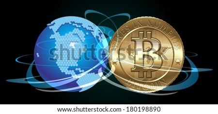Bitcoin Concept - stock photo