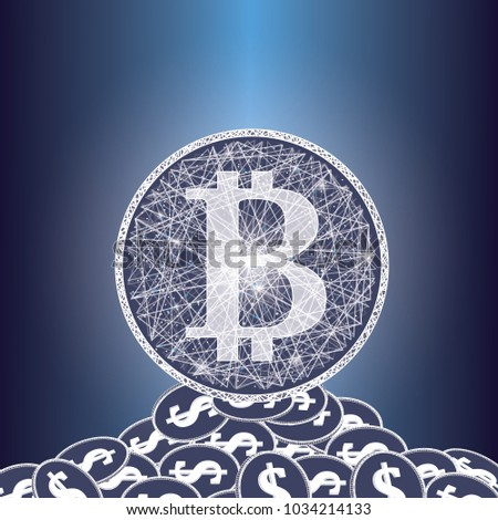 Bitcoin Digital Currency Icons Symbols Crypto Stock Illustration
