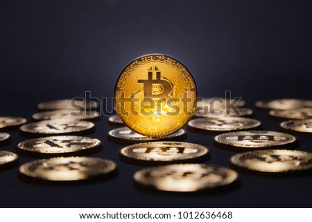 Bitcoin surrounded by Bitcoins
