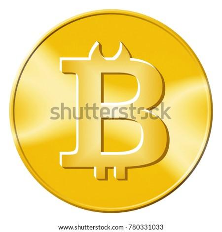 Bitcoin Devil Horns Depicting Evil Crypto Stock Illustration