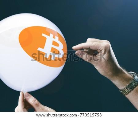 Bitcoins Concept Bit Coin Btc New Stock Photo 770515753