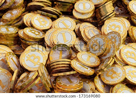 Bitoin mining - stock photo