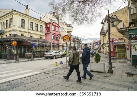 BITOLA, MACEDONIA - NOVEMBER 28, 2015: Bitola city in the southwestern part of the Republic of Macedonia. - stock photo