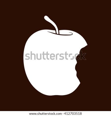 Bitten apple icon, Bitten apple icon art, Bitten apple icon jpg, Bitten apple icon web, Bitten apple icon flat, Bitten apple icon logo, Bitten apple icon sign, Bitten apple icon design, Bitten apple - stock photo