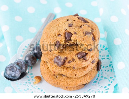 bitten cookie - stock photo