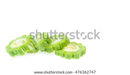 Bitter melon isolated on background