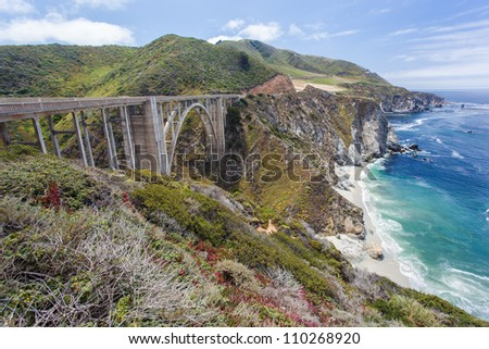 Bixby Bridge in Big Sur, California - stock photo