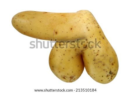 bizarre potato - stock photo
