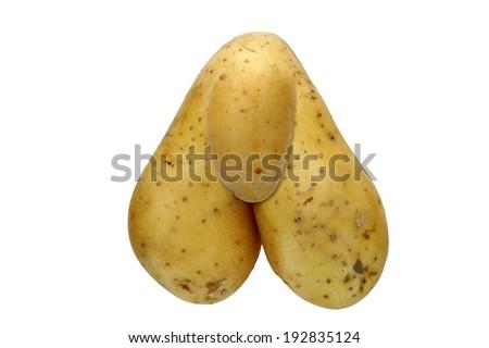 bizarre potato - digitally altered - stock photo