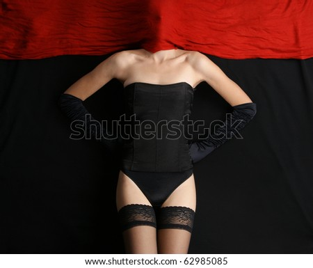 Bizarre shoot of sexy lady