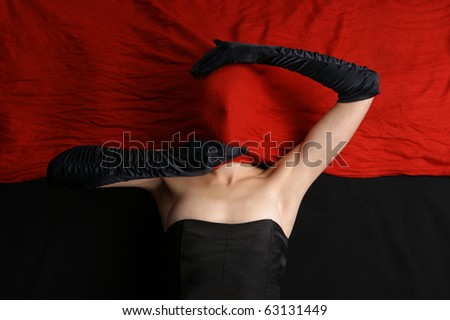 Bizarre shoot of sexy lady - stock photo