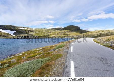 Bjorgavegen tourist route in Norway