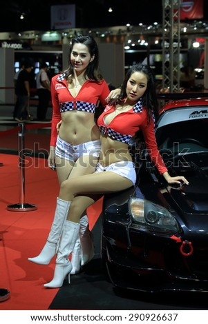 BKK. THAILAND-JUNE 24 : Decoration super car and super model in Bangkok International Auto Salon 2015, 24-28 June 2015 at Bangkok Thailand. Event of decoration & modify car of Thailand and Japan also.