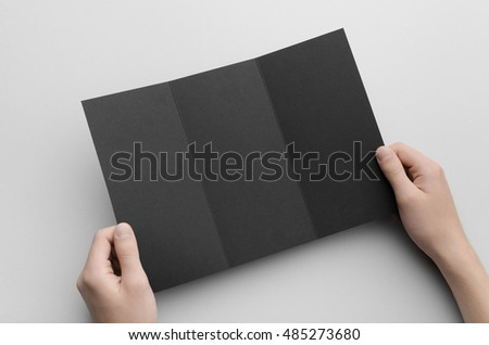 trifold brochure mock up