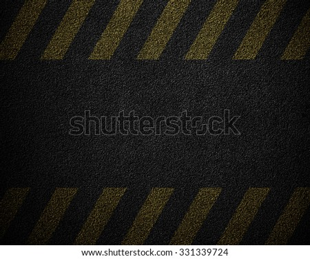 black abstract texture with yellow stripes - stock photo