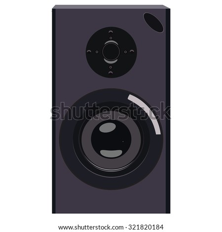 Black acoustic speaker raster isolated, musical equipment, professional electronic instrument