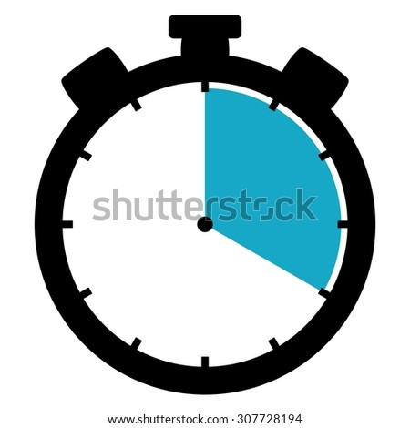 Black and blue Stopwatch icon showing 20 seconds 20 minutes or 4 hours - stock photo