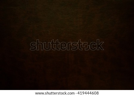 black and brown  leather texture with vignette. - stock photo