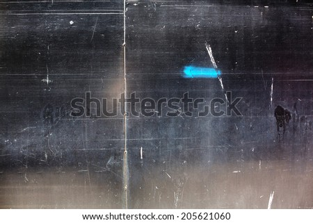 Black and brown wall texture with scratches and dust - stock photo