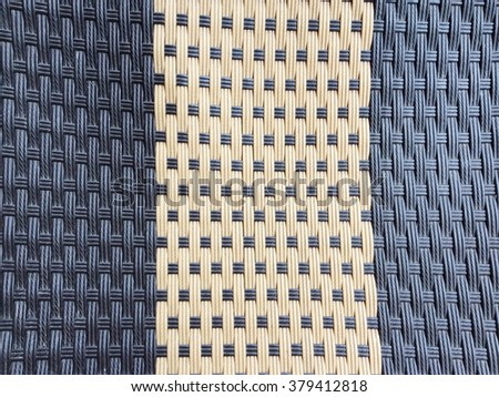 Black and cream wicker texture as background