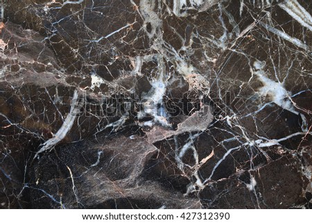 black and dark brown marble patterned texture background , abstract marble in natural patterned.