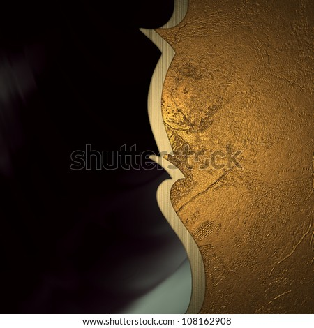 Black and gold texture texture divided band of gold - stock photo