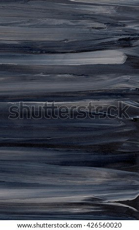 Black and grey acrylic striped background on grunge paper, texture.