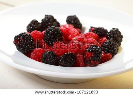 Black and red raspberry