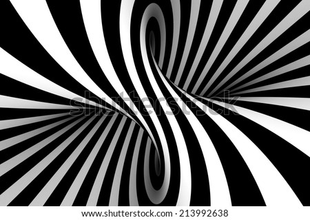 Black and white abstract - stock photo