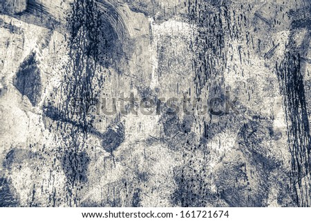 black and white abstract background with drips and drops - stock photo
