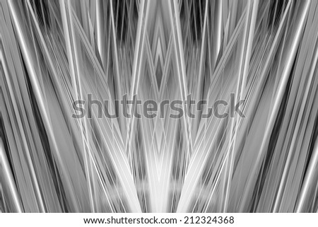Black and white Art Deco spotlights background - stock photo