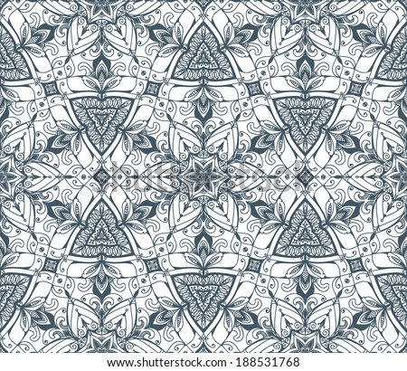 Black and white background. Abstract hand-drawn ethno pattern, tribal background. Pattern can be used for wallpaper, web page background, others. Vintage tribal texture. Raster version