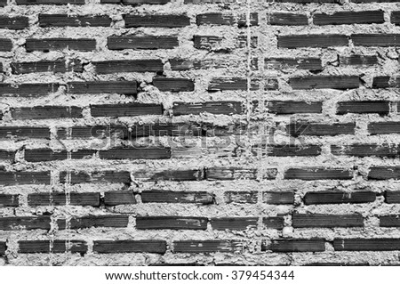 Black and white Background of old vintage brick wall,Background of brick wall texture,brick wall,B&W