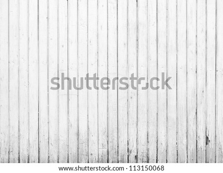Black and white background of weathered painted wooden plank - stock photo