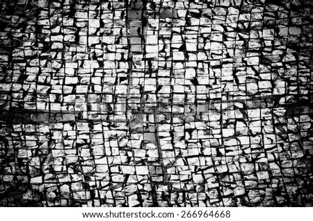 black and white background with vignette - stock photo
