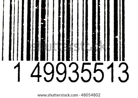Black And White Bar Code With Numbers(FIGURES AND LINES TO CHANGE)