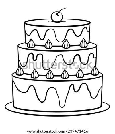 black white birthday cake stock illustration 239471416 shutterstock