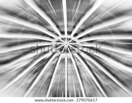 Black and white blur abstract zoom backdrop