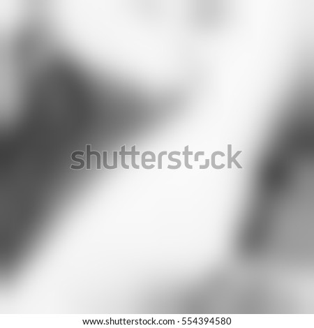 Black and white blur background. Gray gradient abstract surface.