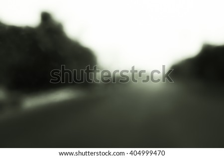 Black and white blur road
