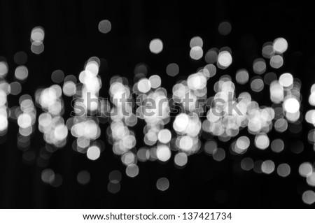 Black and White bokeh background. - stock photo