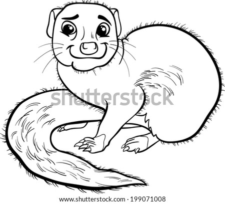 Mongoose cartoon stock photos images pictures for Mongoose coloring page