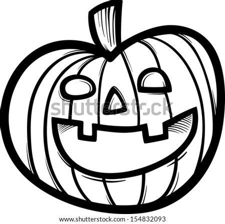 black white cartoon illustration spooky halloween stock rh shutterstock com black and white pumpkin clipart and leaves halloween pumpkins black and white clipart