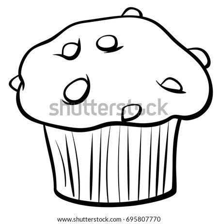 black white cartoon illustration sweet muffin stock illustration rh shutterstock com food clipart black and white free fast food clipart black and white
