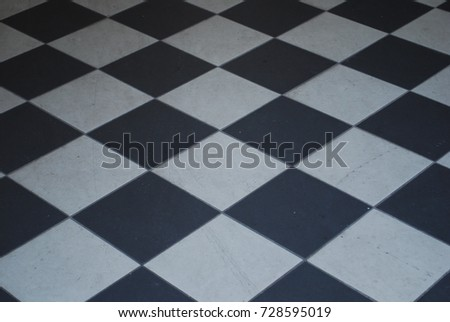 Black White Checkered Tile Floor Background Stock Photo Royalty