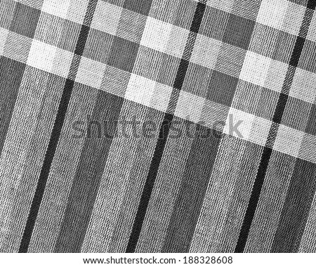 Black and White Closeup texture of Fabric, Thai style loincloth